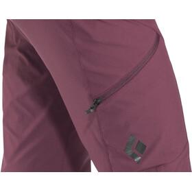 Black Diamond Alpine Pantalones Mujer, bordeaux